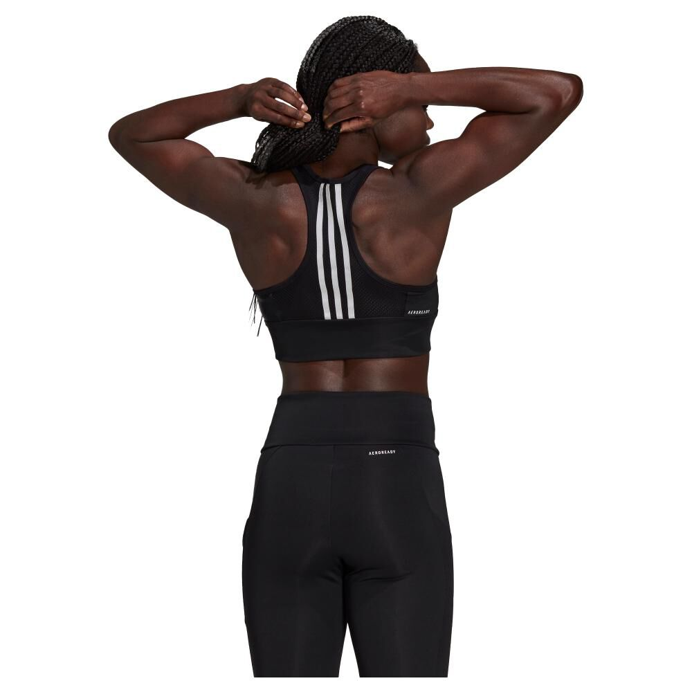 Peto Deportivo Mujer Adidas 3-stripes Padded Sports Crop Top image number 2.0