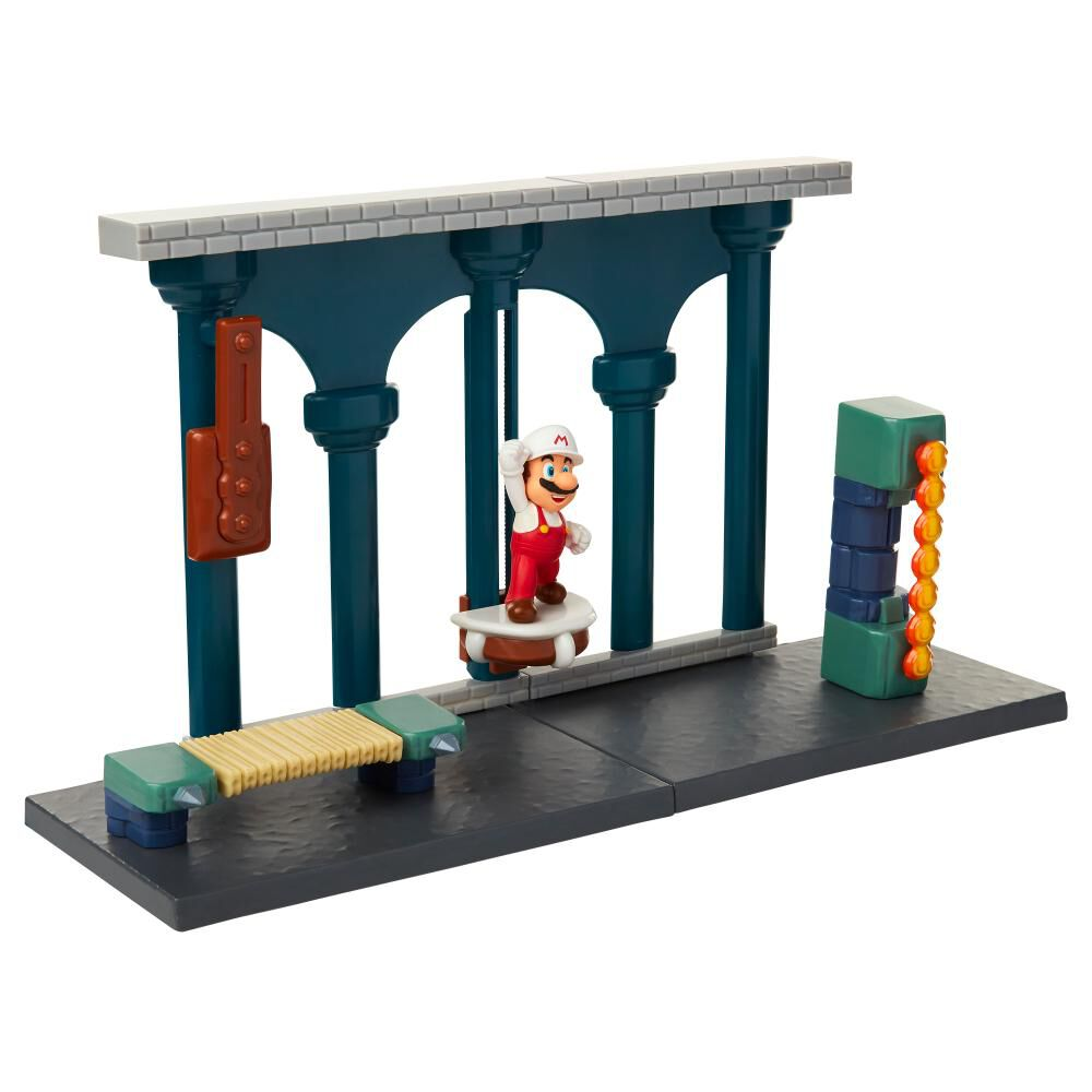 Figura De Accion Nintendo Set Escena Batalla Castillo De Lava Super Mario image number 4.0
