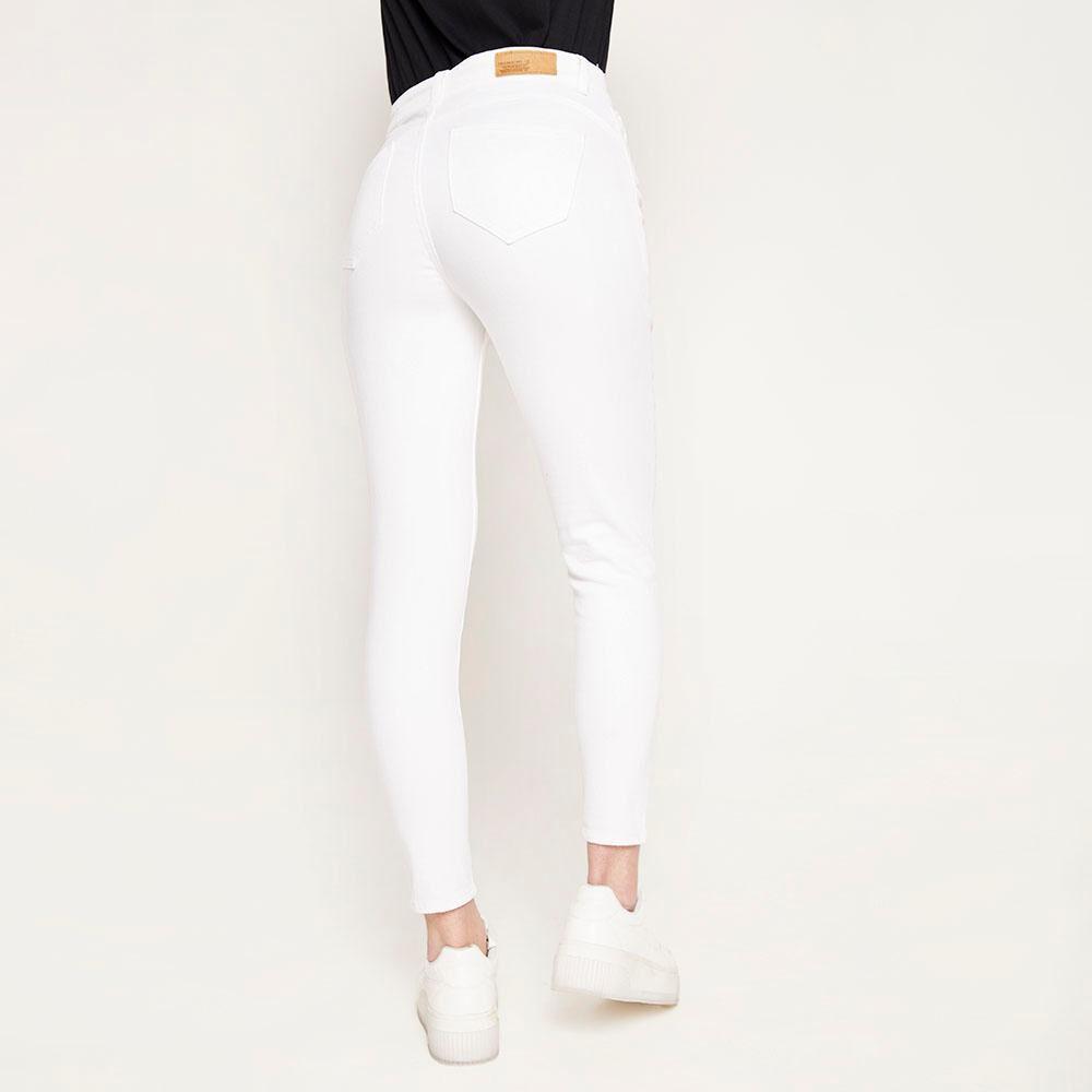 Jeans Blanco Tiro Alto Push Up Mujer Freedom image number 2.0