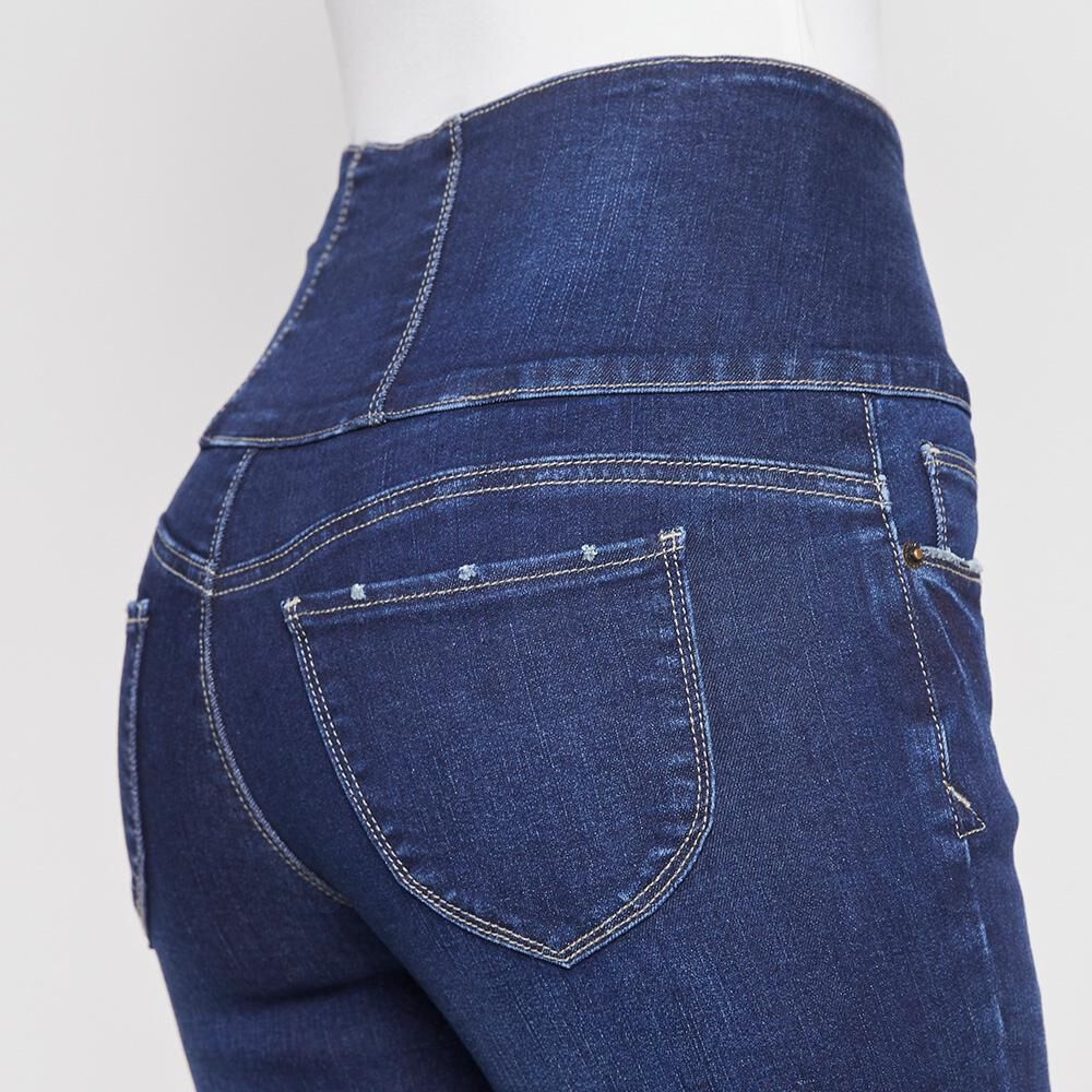 Jeans Mujer Tiro Alto Sculpture Rolly Go image number 4.0