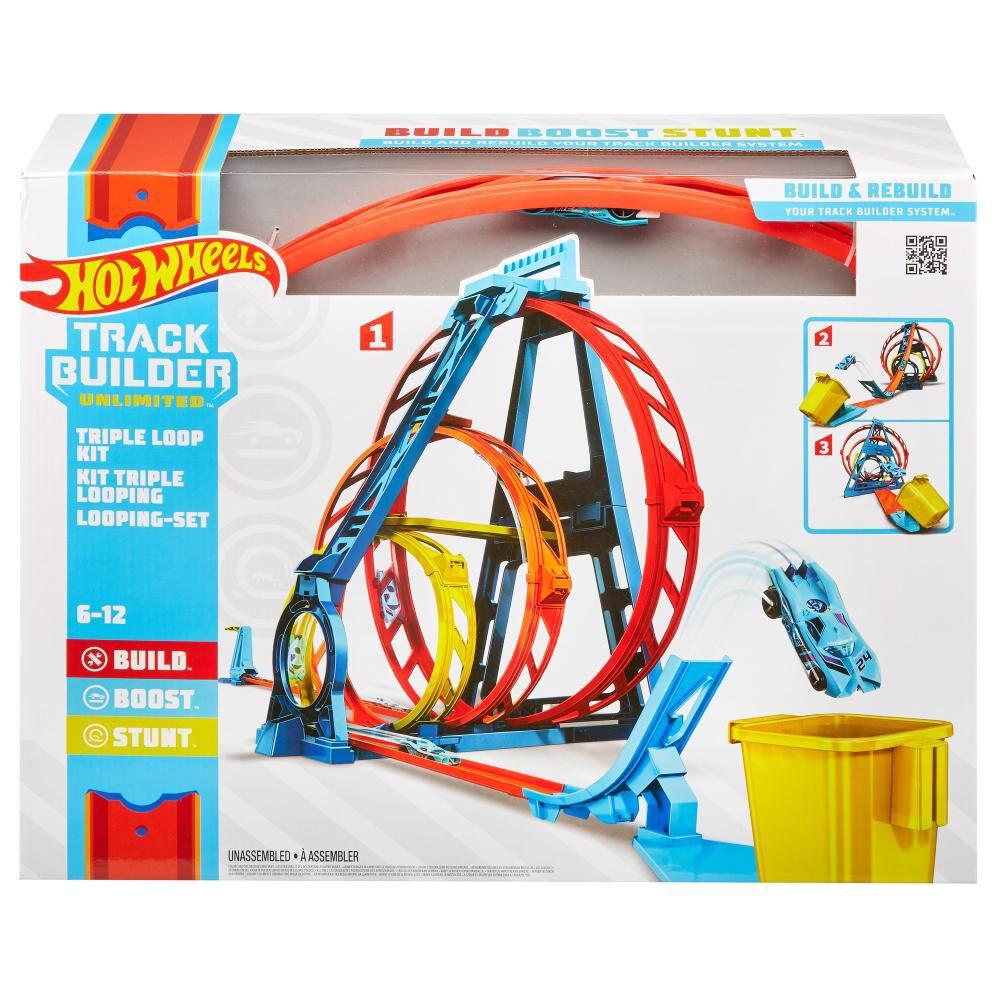 Autopista De Juego Hotwheels Track Builder Kit Triple Loop image number 3.0