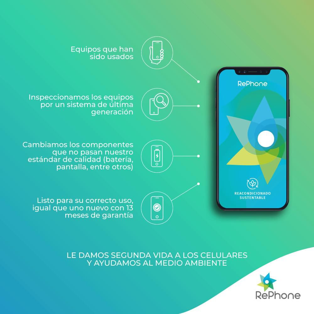 Smartphone Apple Iphone Xr Reacondicionado Negro / 128 Gb / Liberado image number 2.0