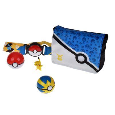 Figura De Acción Pokemon Bolso Entrenador Con 2 Pokebol