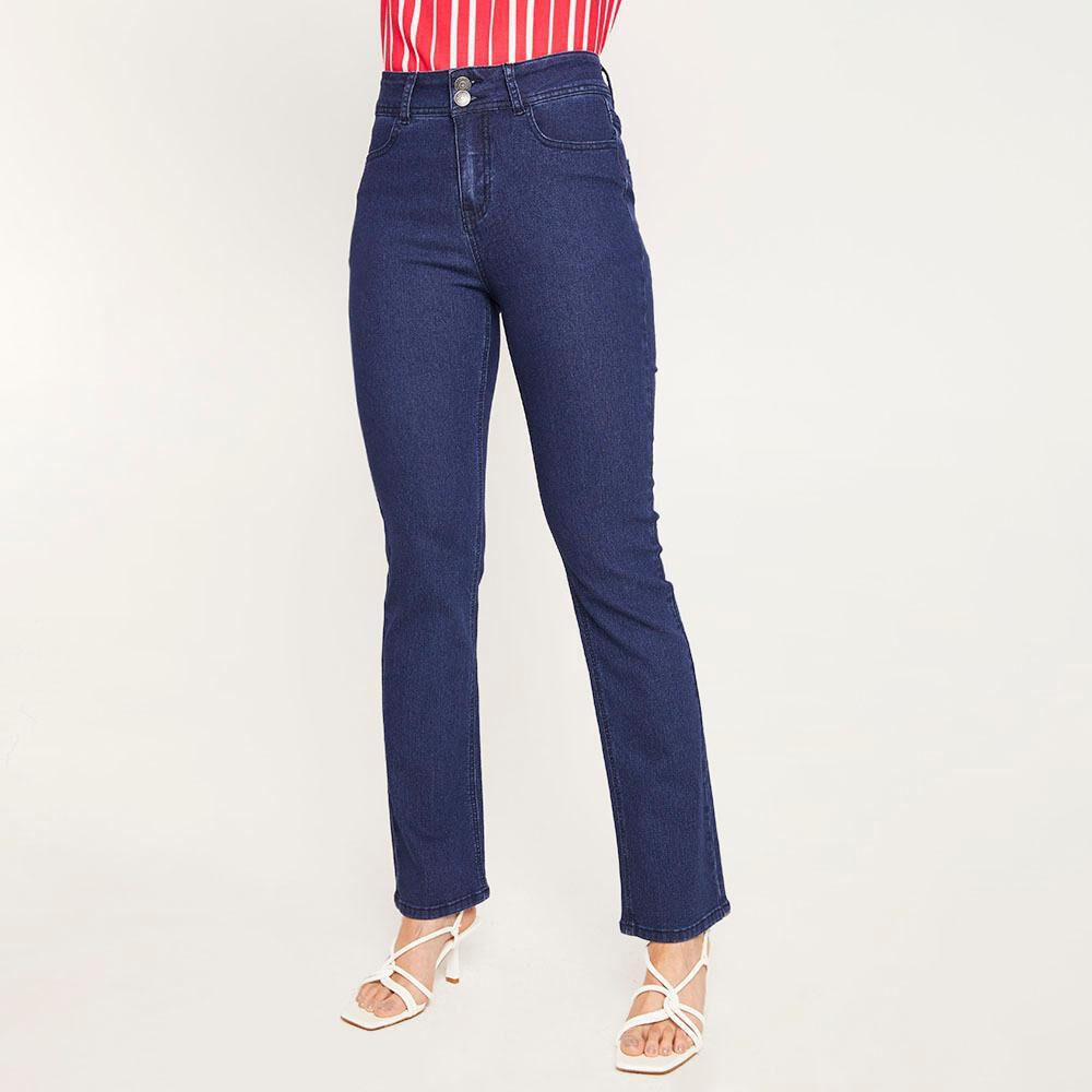 Jeans Tiro Alto Regular Mujer Geeps image number 0.0