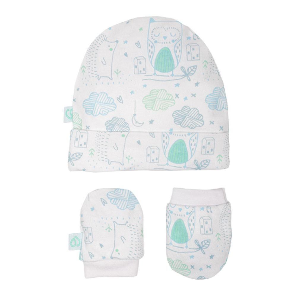 Set Baby Gift Gorrito Y Mitones Celeste 0-3 Meses Bambino  image number 0.0