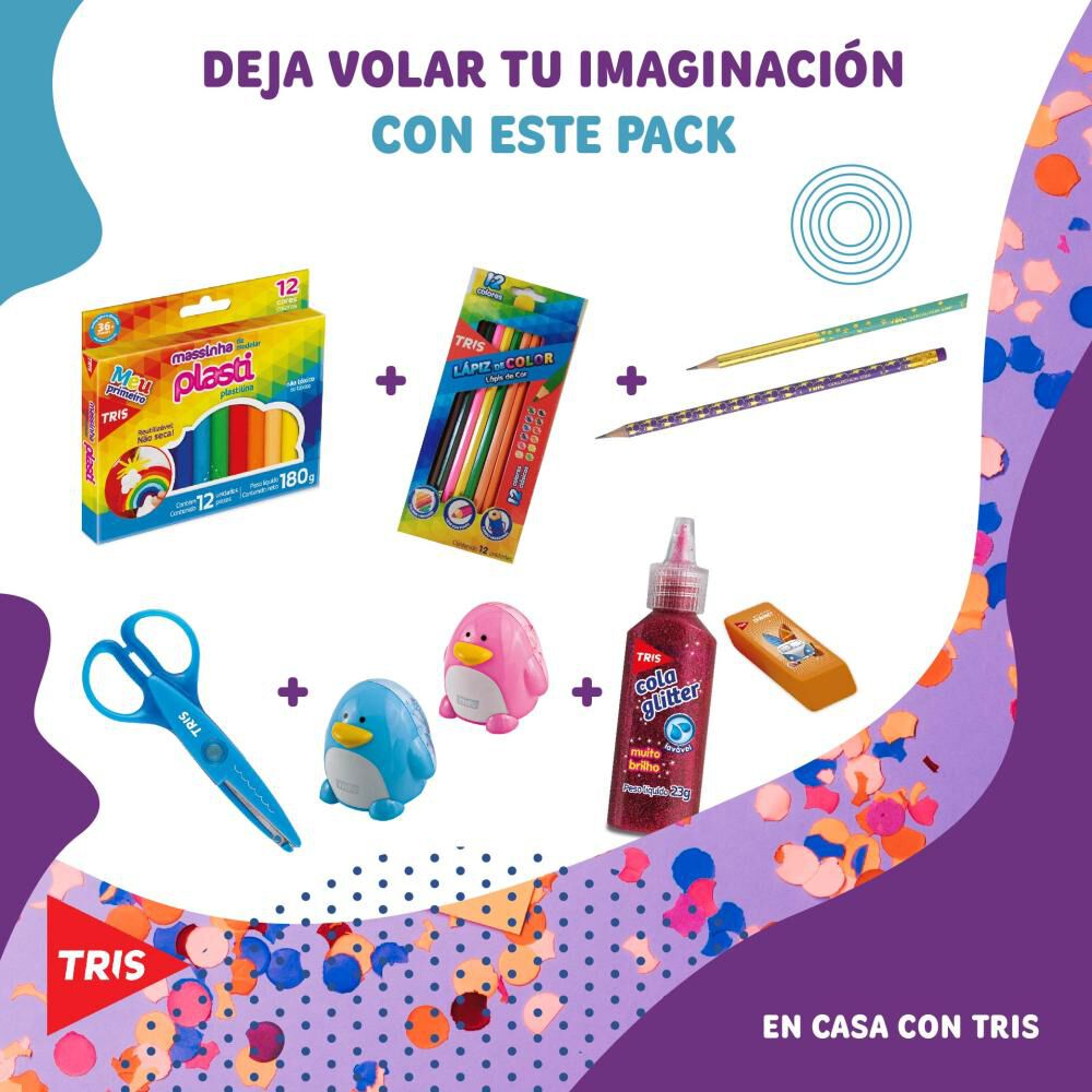 Set De Manualidades  Tris Pack 1 603377  / + 3 Años image number 0.0