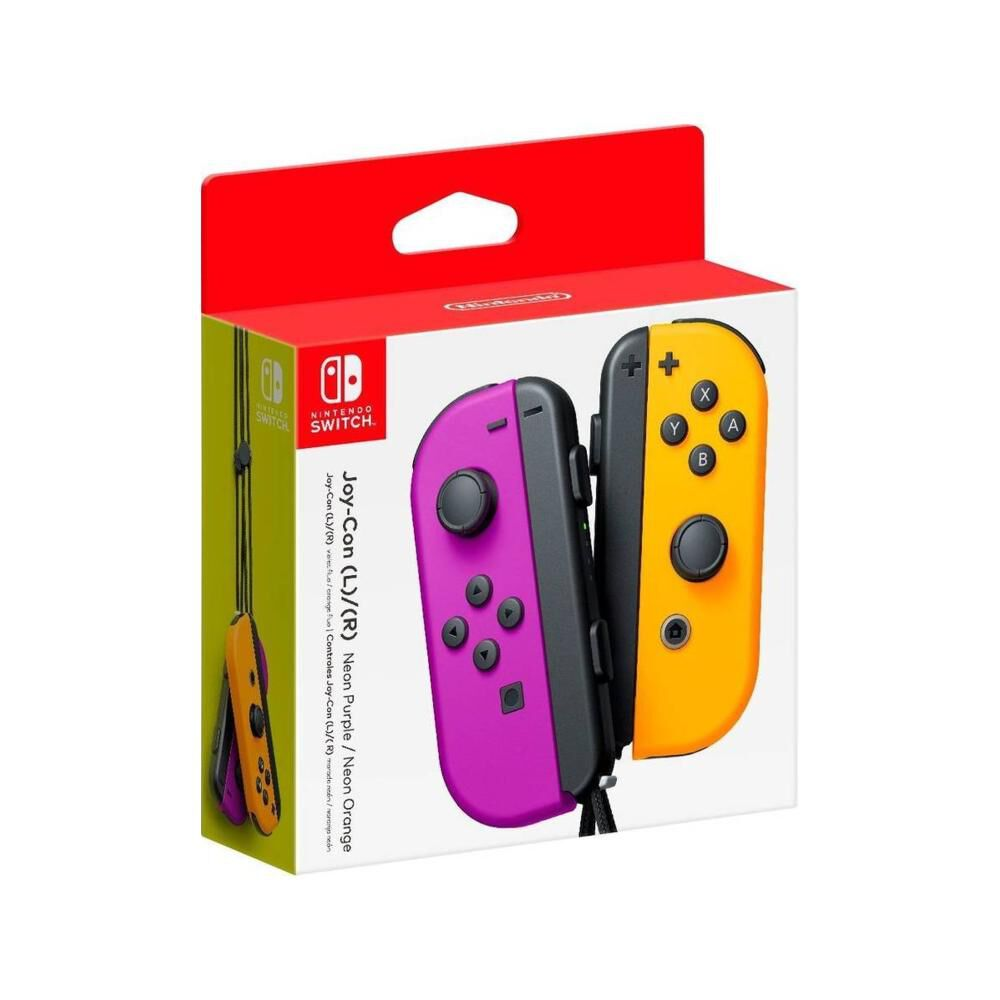 Nintendo Joy-con Pair Neon Purple / Orange image number 1.0