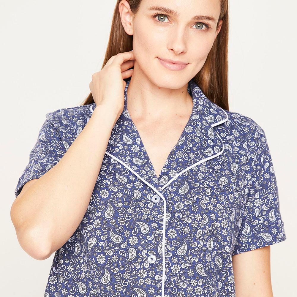 Pijama Capri Manga Corta Mujer Lesage image number 3.0