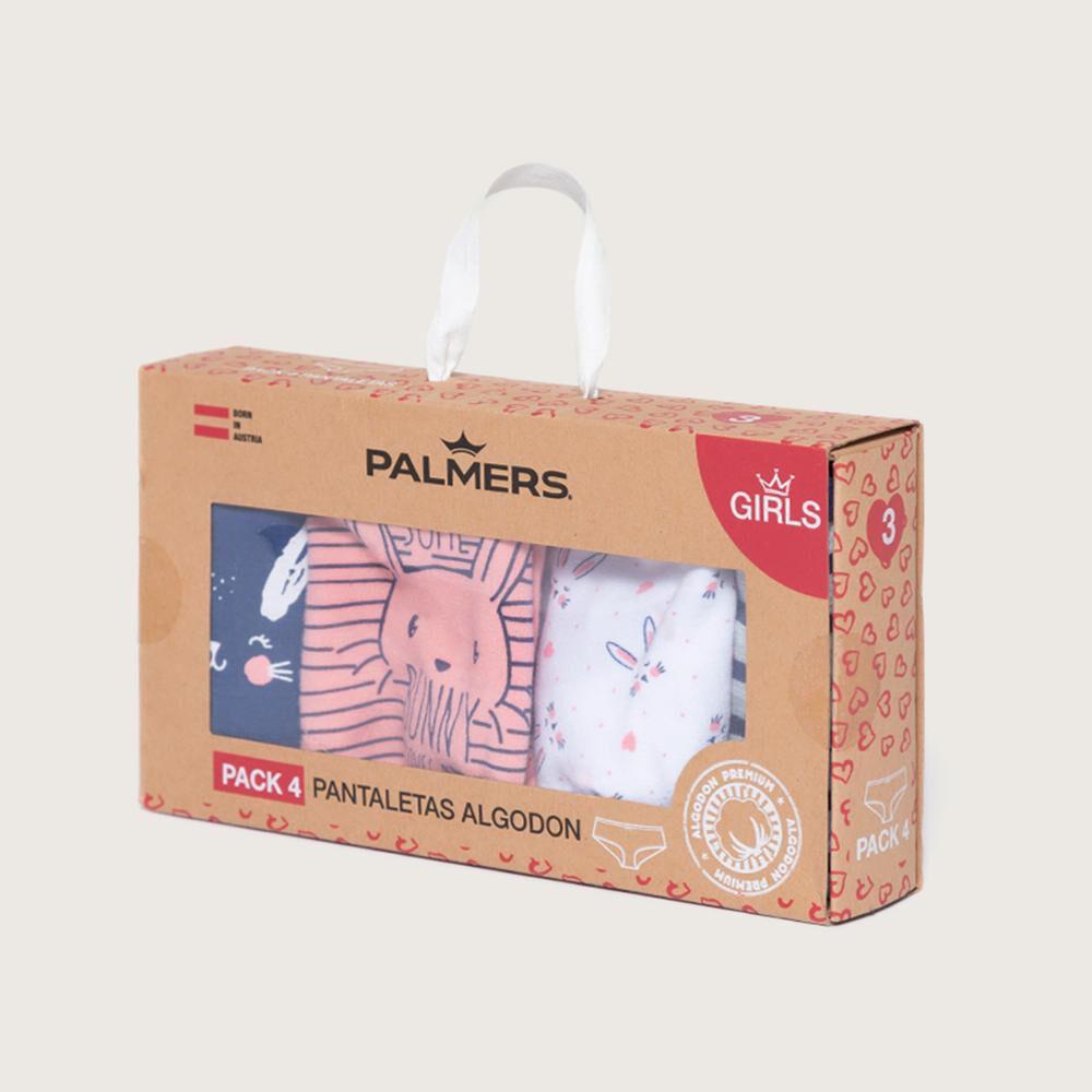 Pack Pantaletas Niña Palmers / 4 Unidades image number 4.0