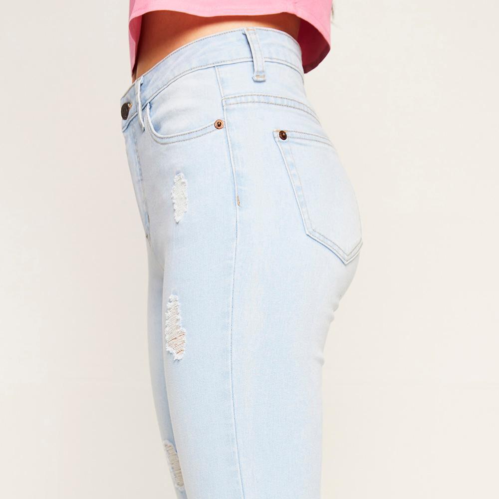 Jeans Rotura Tiro Medio Super Skinny Mujer Freedom image number 3.0