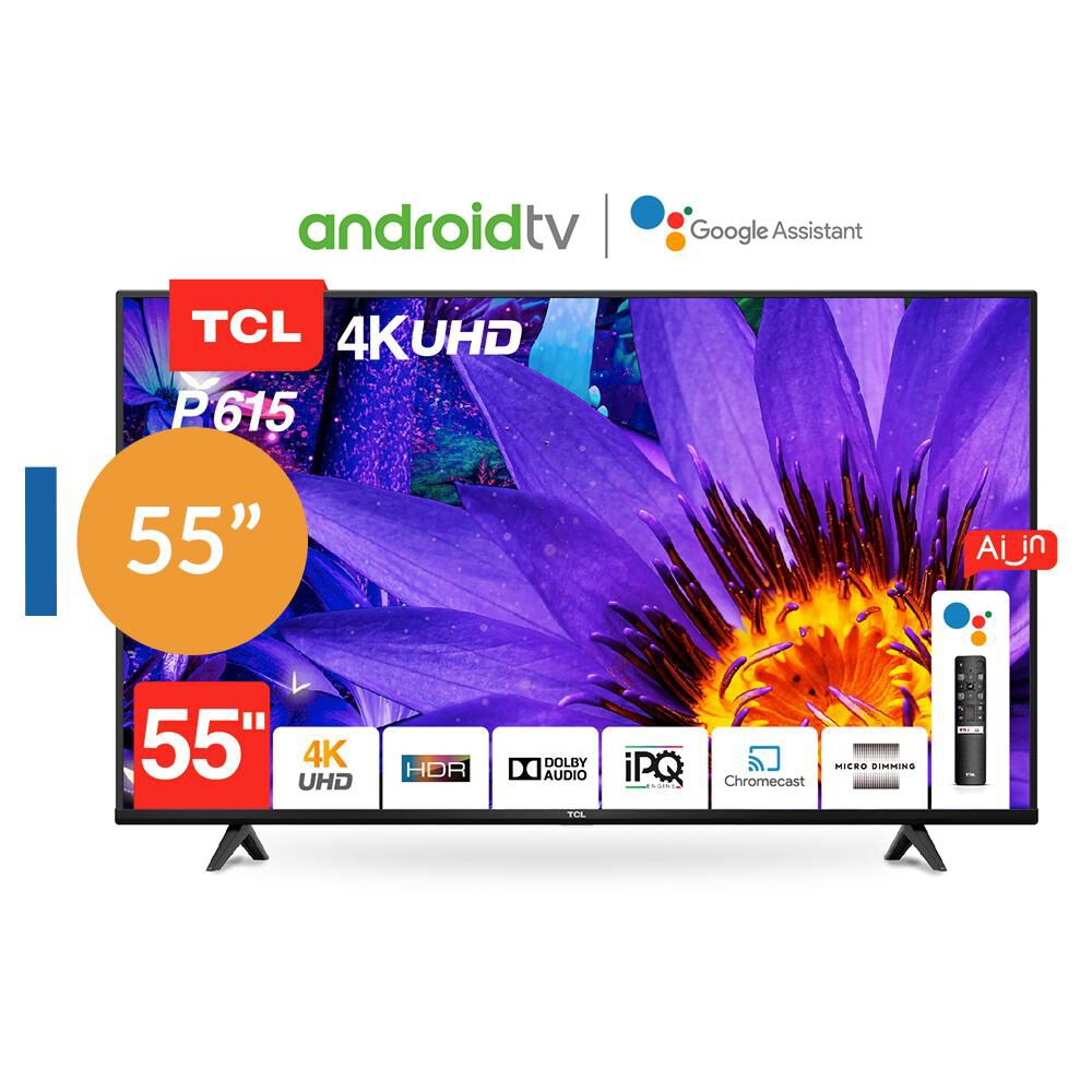 Led Tcl 55p615 Android Tv / 55'' / Ultra Hd / 4k / Smart Tv image number 0.0