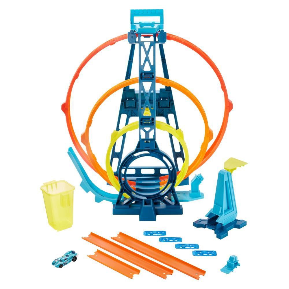 Autopista De Juego Hotwheels Track Builder Kit Triple Loop image number 2.0