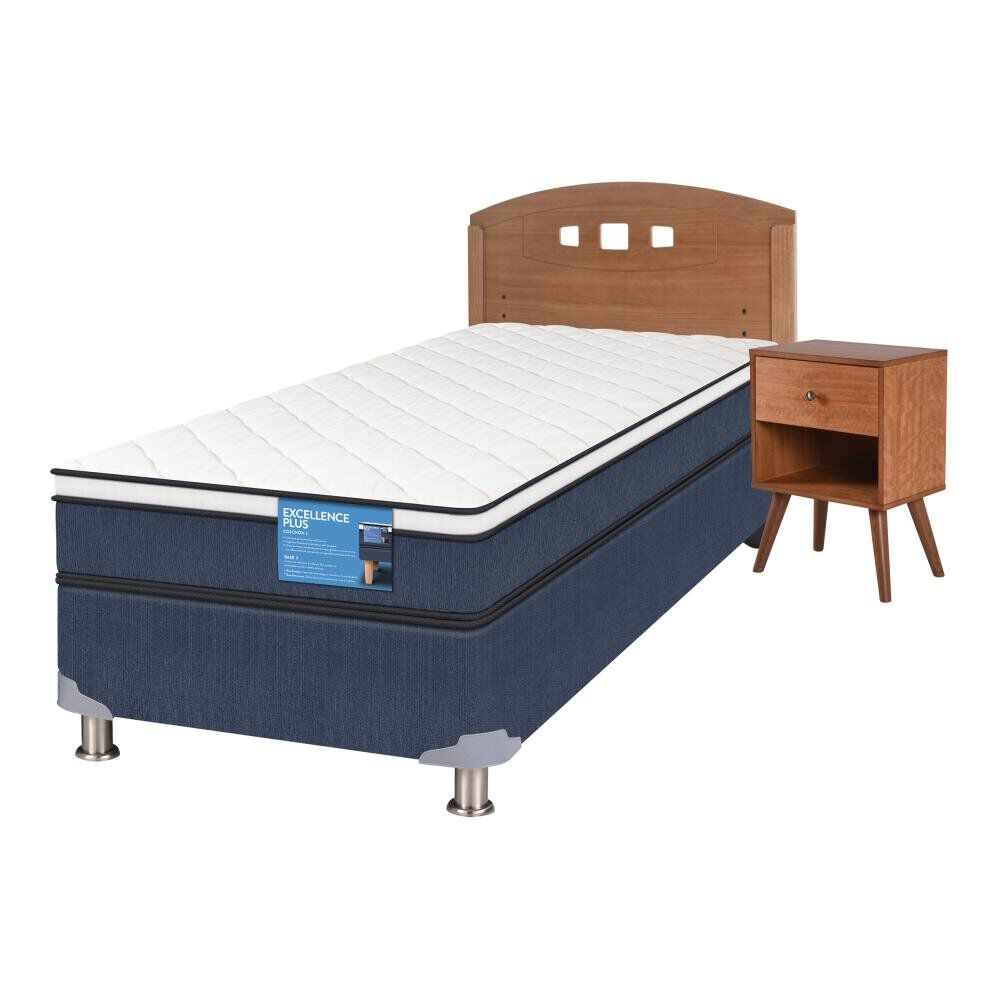 Cama Americana Cic Excellence Plus / 1.5 Plazas / Base Normal  + Set De Maderas image number 1.0