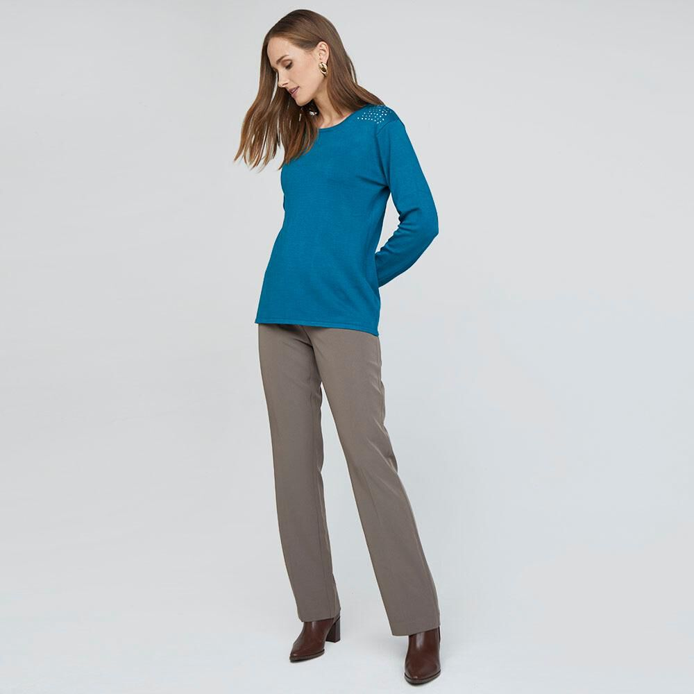 Sweater Liso Con Brillos Mujer Lesage image number 1.0