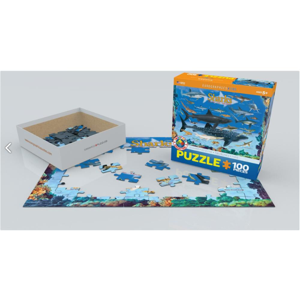 Puzzle Eurographics 6100-0079 Sharks image number 0.0