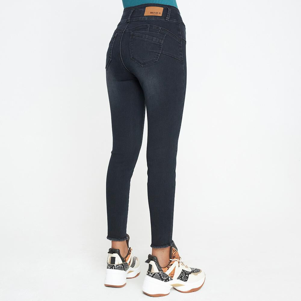 Jeans Mujer Tiro Alto Push Up Rolly Go image number 2.0