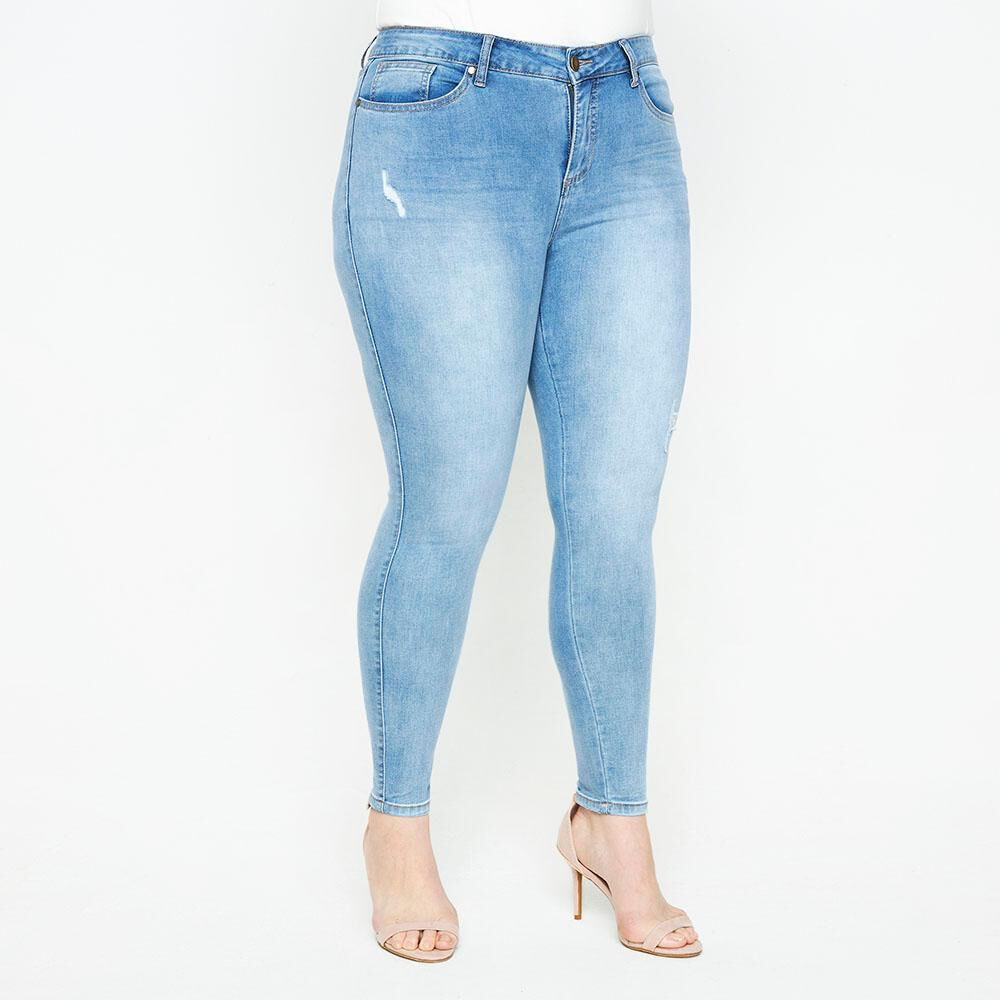 Jeans Tiro Medio Skinny Fit Mujer Sexy Large image number 0.0