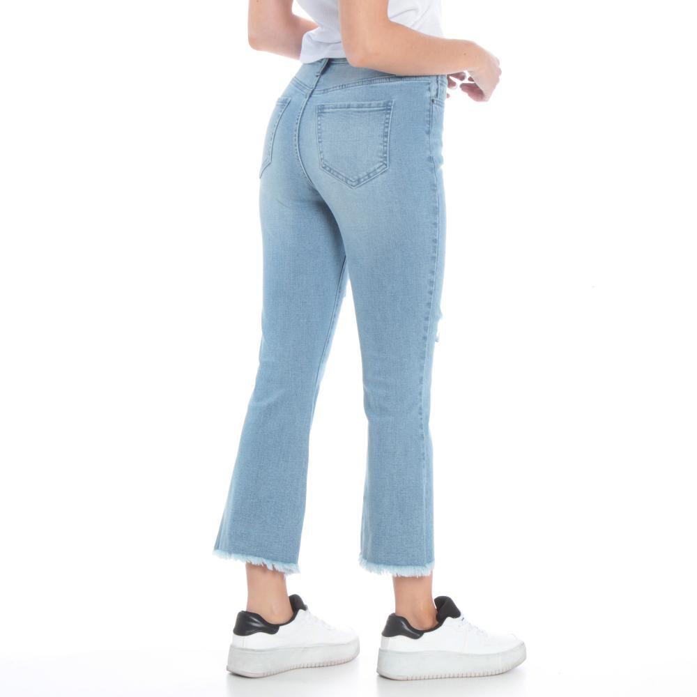 Jeans Mujer Crop Flare Wados image number 2.0
