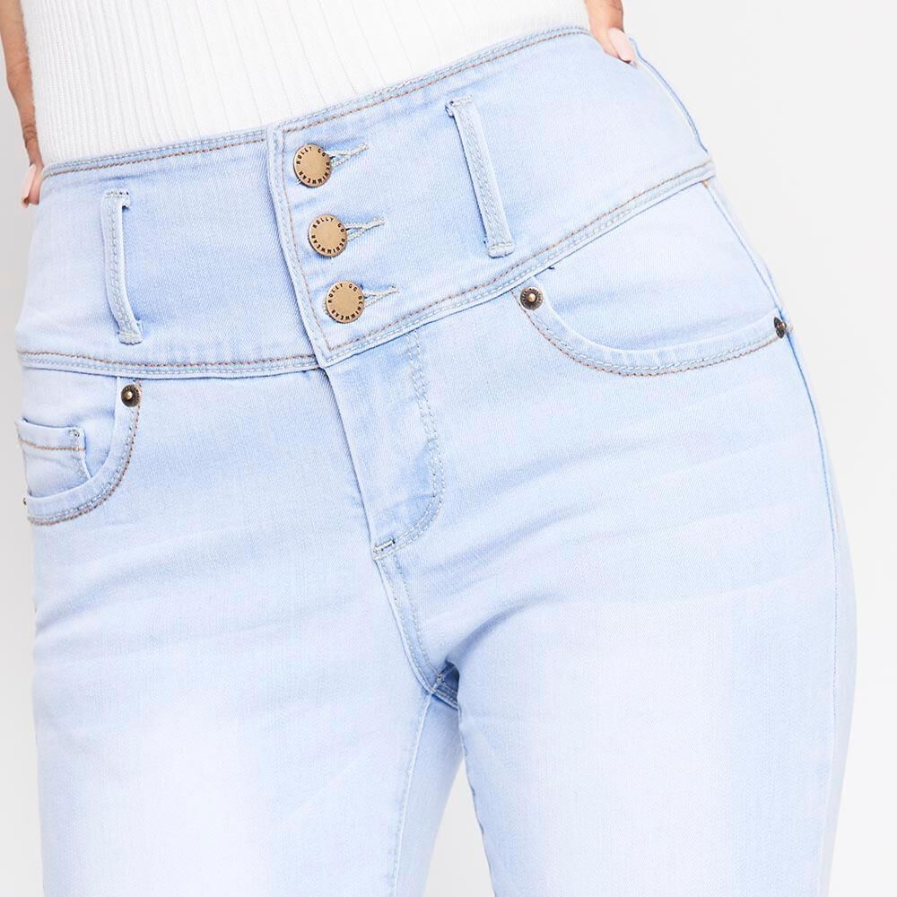 Jeans Mujer Tiro Alto Skinny almohadillas Rolly go image number 3.0