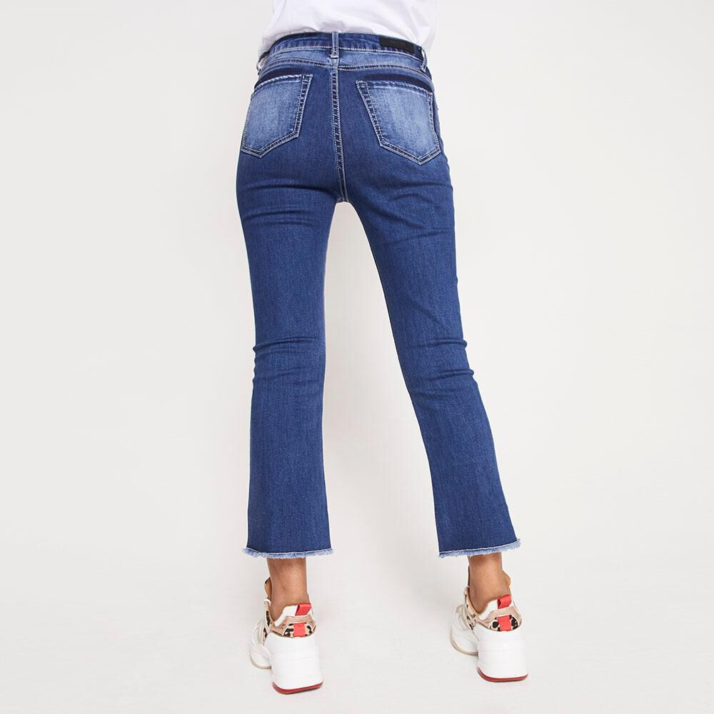Jeans Tiro Alto Flare Crop Rolly go image number 2.0