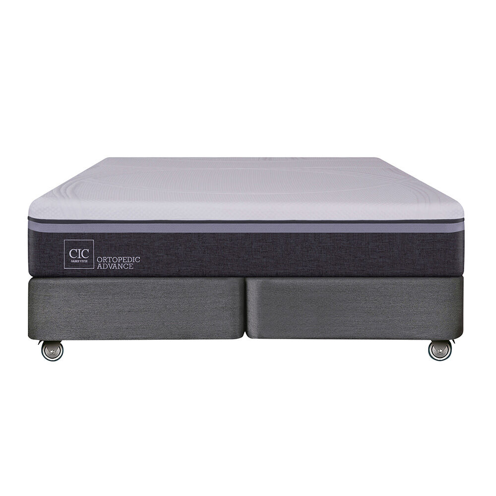 Box Spring Cic Ortopedic Advance / King / Base Dividida image number 1.0