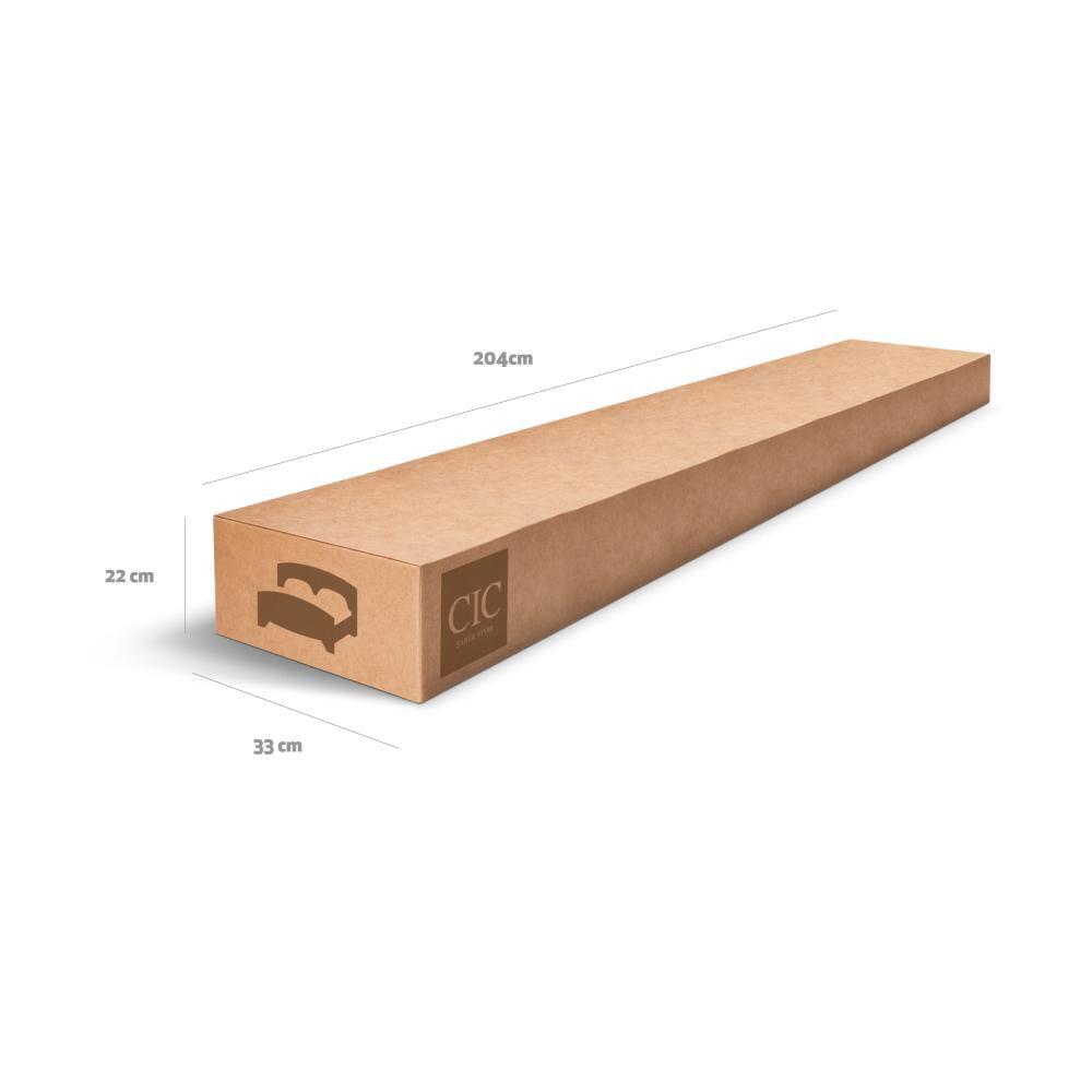 Cama Europea Cic Curve Premium / 2 Plazas / Base Normal + Set De Maderas image number 11.0