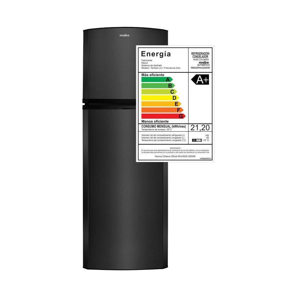 Refrigerador Top Freezer Mabe RMA250PHUG / No Frost / 250 Litros image number 8.0