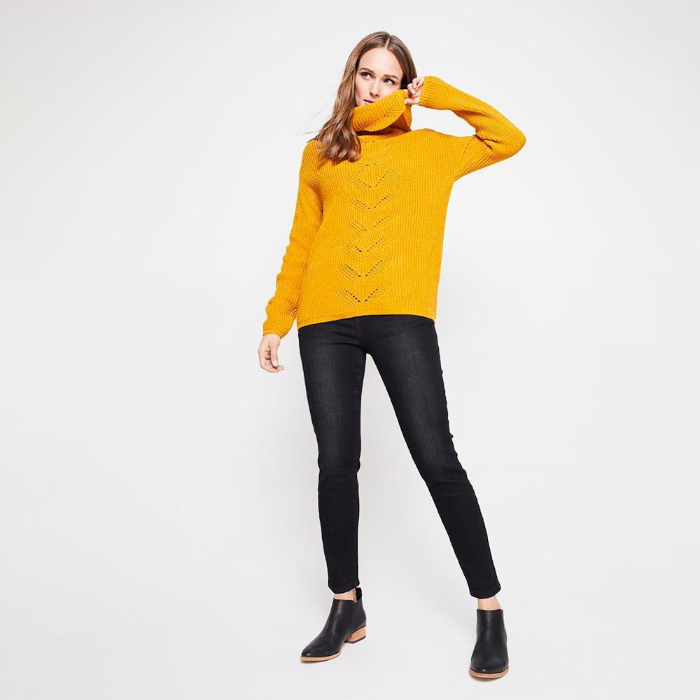 Sweater Tejido Largo Cuello Alto Mujer Kimera image number 1.0