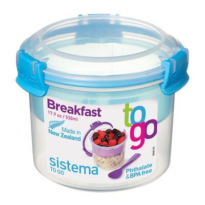 Contenedor Hermetico Sistema Yogurt Y Cereales 21355Az  / 550 Ml