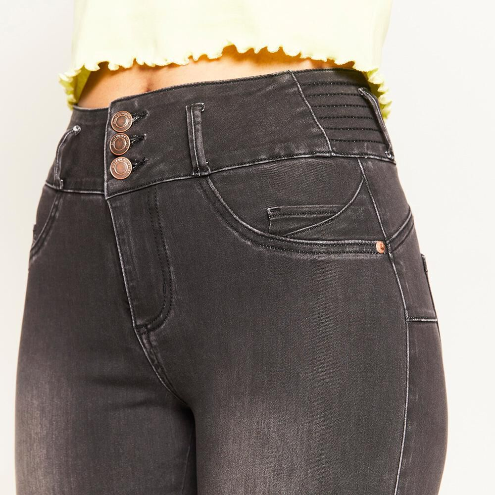 Jeans Pretina Alta Push Up Mujer Rolly Go image number 3.0