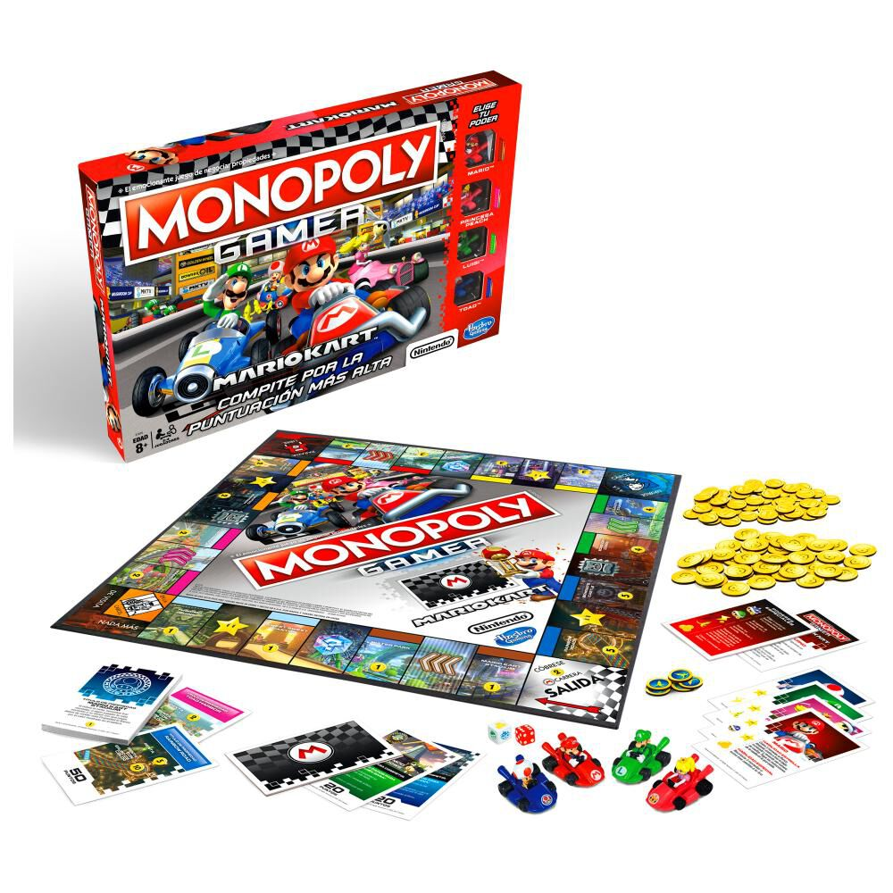 Juegos Familiares Monopoly Gamer Mario Kart image number 0.0