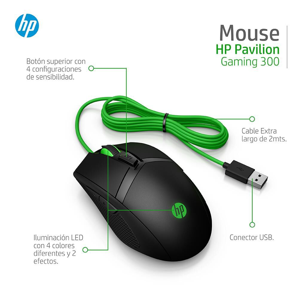 Mouse Gamer Hp Pavilion Gaming 300 image number 5.0