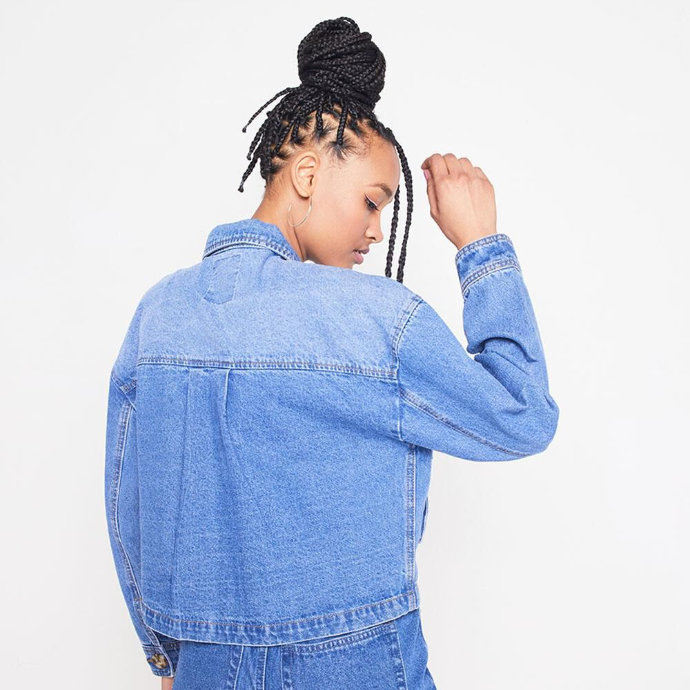 Chaqueta Denim Oversize Mujer Rolly Go image number 2.0