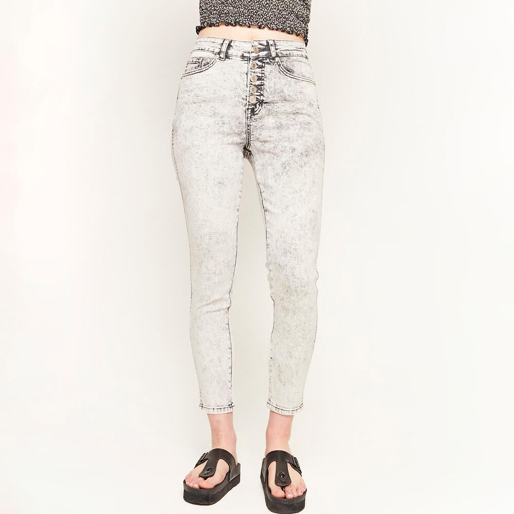 Jeans Botones Tiro Alto Super Skinny Mujer Freedom image number 0.0