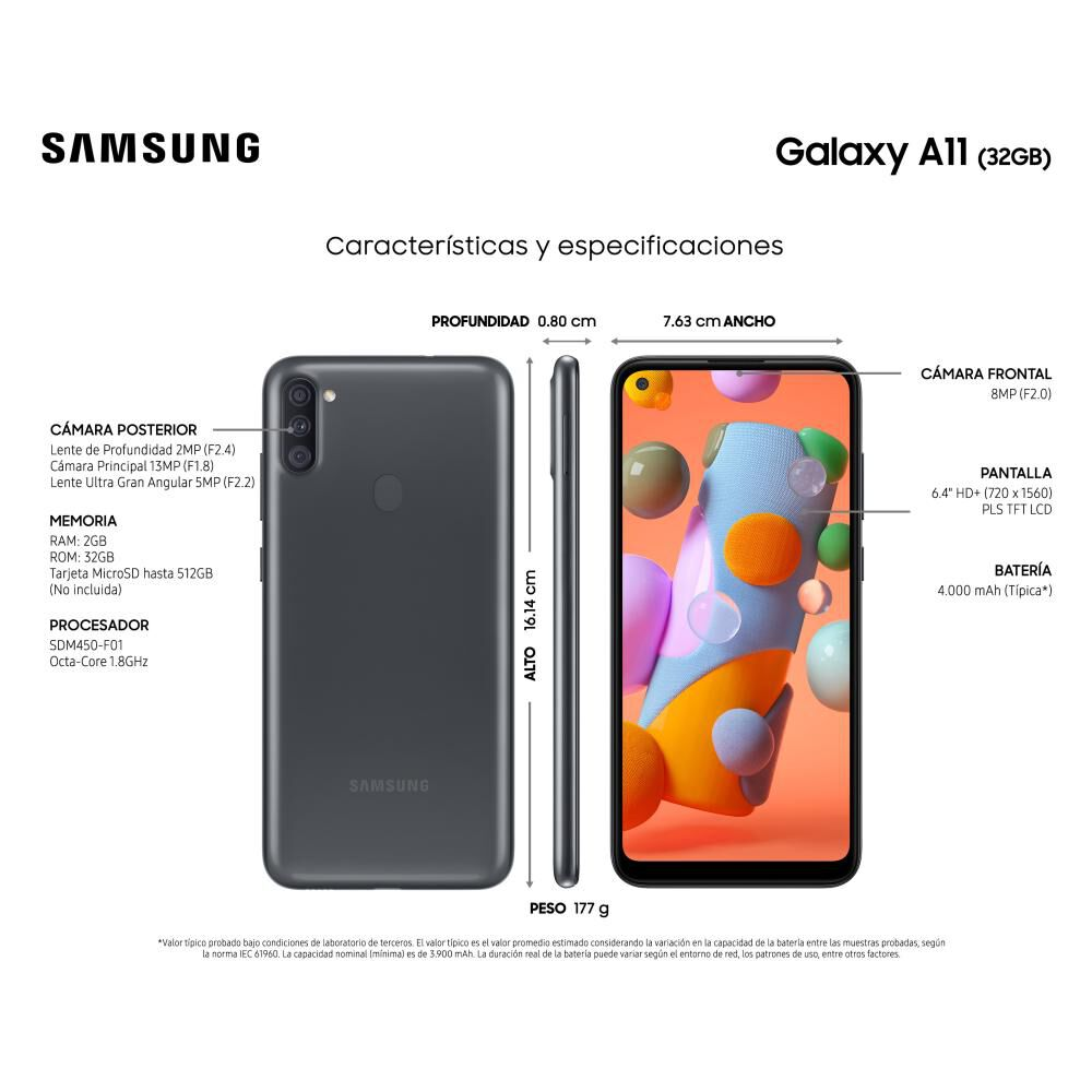 Smartphone Samsung Galaxy A11 32 Gb - Liberado image number 3.0