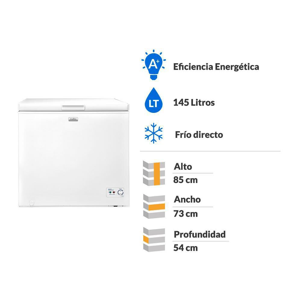 Freezer Horizontal Mabe FDHM150BY1 / Frío Directo / 145 Litros image number 1.0