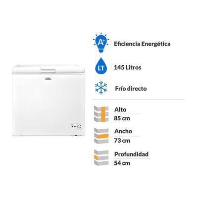 Freezer Horizontal Mabe FDHM150BY1 / Frío Directo / 145 Litros