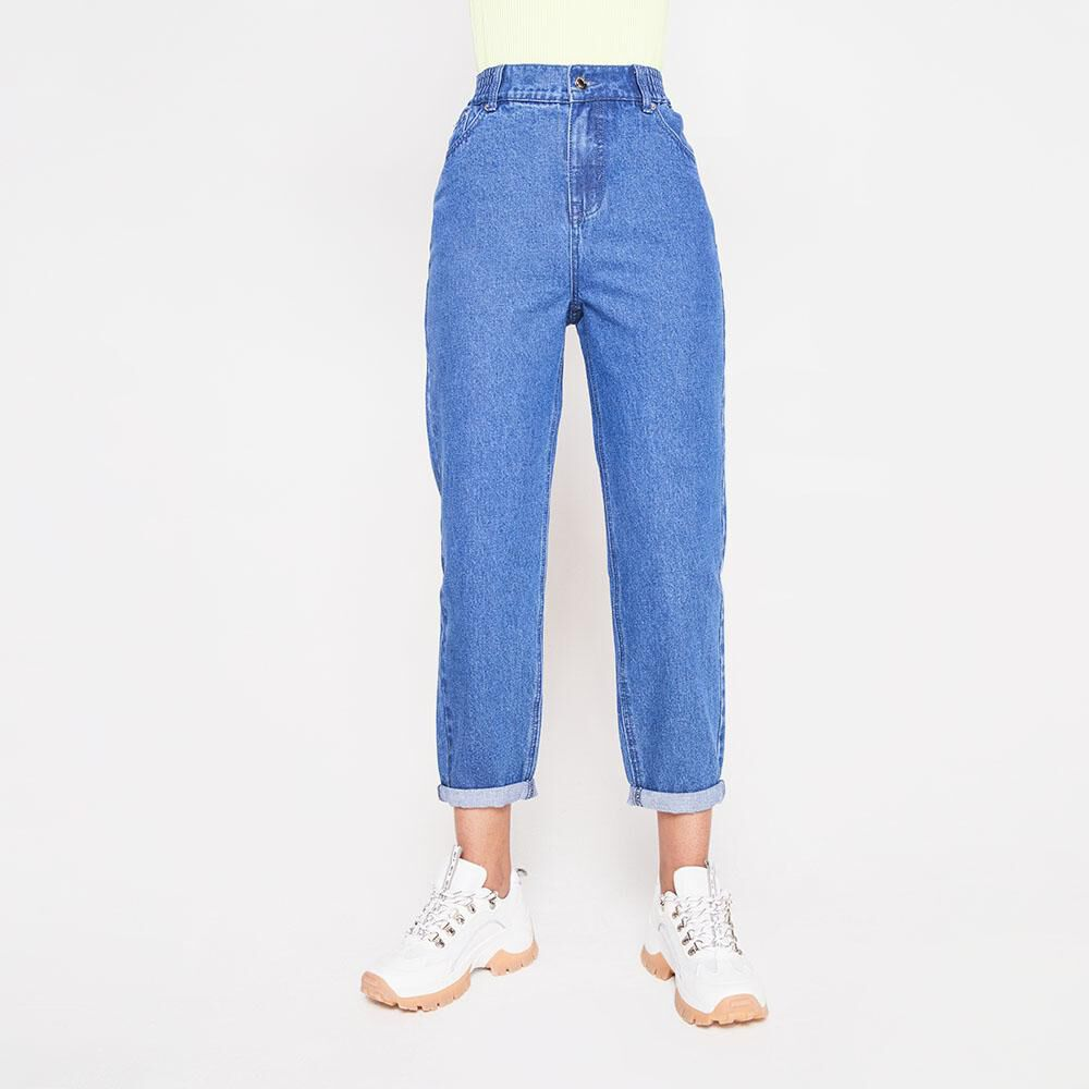 Jeans Tiro Alto Slouchy Mujer Rolly Go image number 5.0
