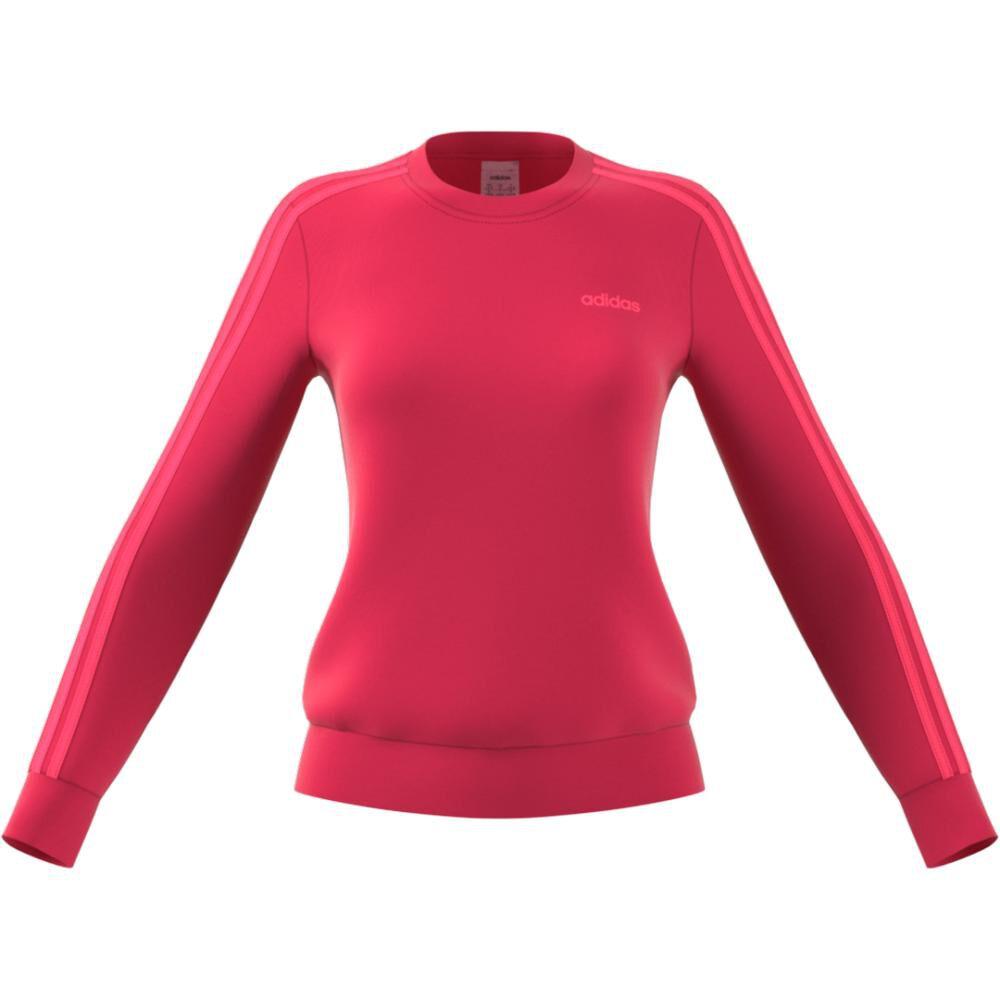Polerón Deportivo Unisex Adidas Women Essentials 3 Stripe Sweat French Terry image number 2.0