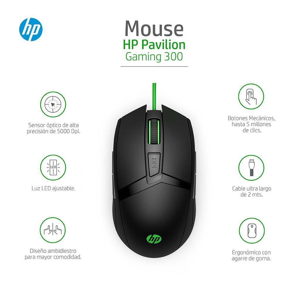 Mouse Gamer Hp Pavilion Gaming 300 image number 6.0