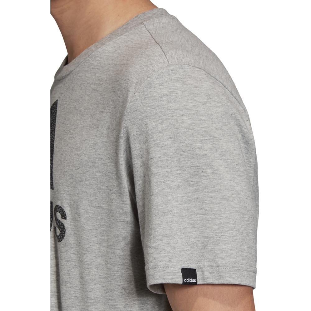 Camiseta Con Logo Texturizado Unisex Adidas image number 6.0