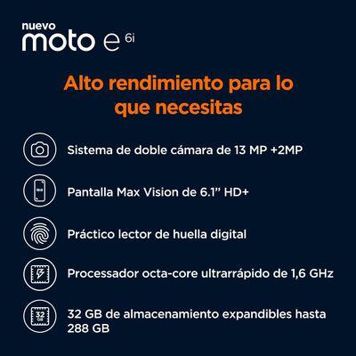 Smartphone Motorola Moto E6i / 32 Gb / Liberado