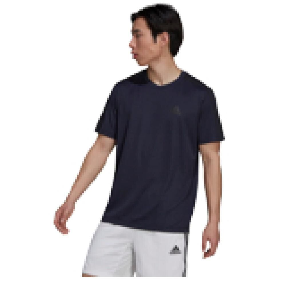 Polera Hombre Adidas Aeroready Designed To Move Sport 3 Bandas image number 7.0