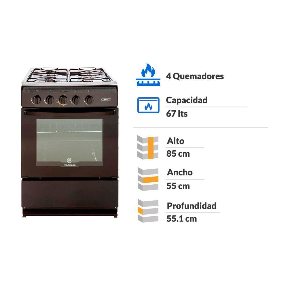 Cocina Mademsa MV 120 / 4 Quemadores image number 1.0