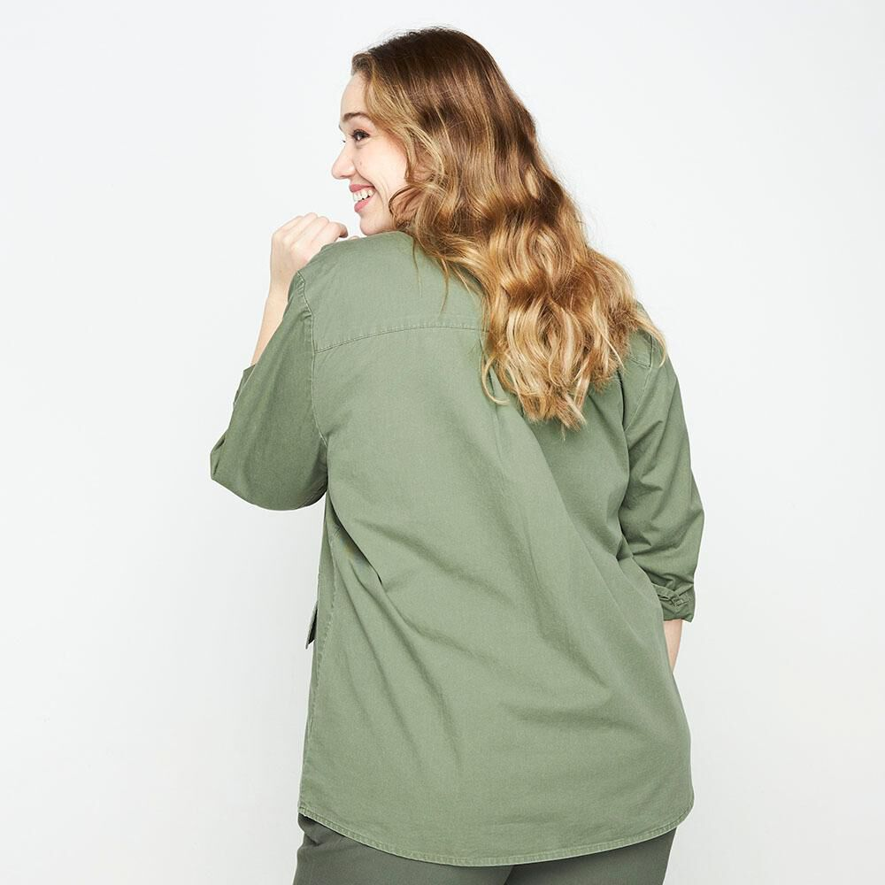 Chaqueta Cargo Regular Fit Cuello Camisero Mujer Sexy Large image number 2.0