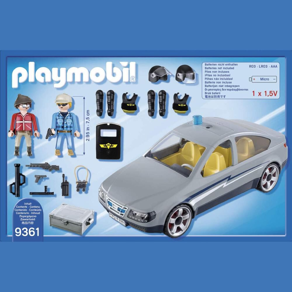 Figura De Acción Playmobil Coche Civil De Las Fuerzas Especiales image number 4.0