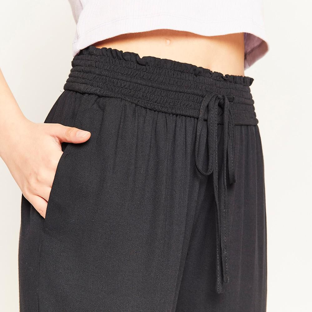 Pantalon Pretina Elasticada Tiro Alto Relax Mujer Freedom image number 3.0