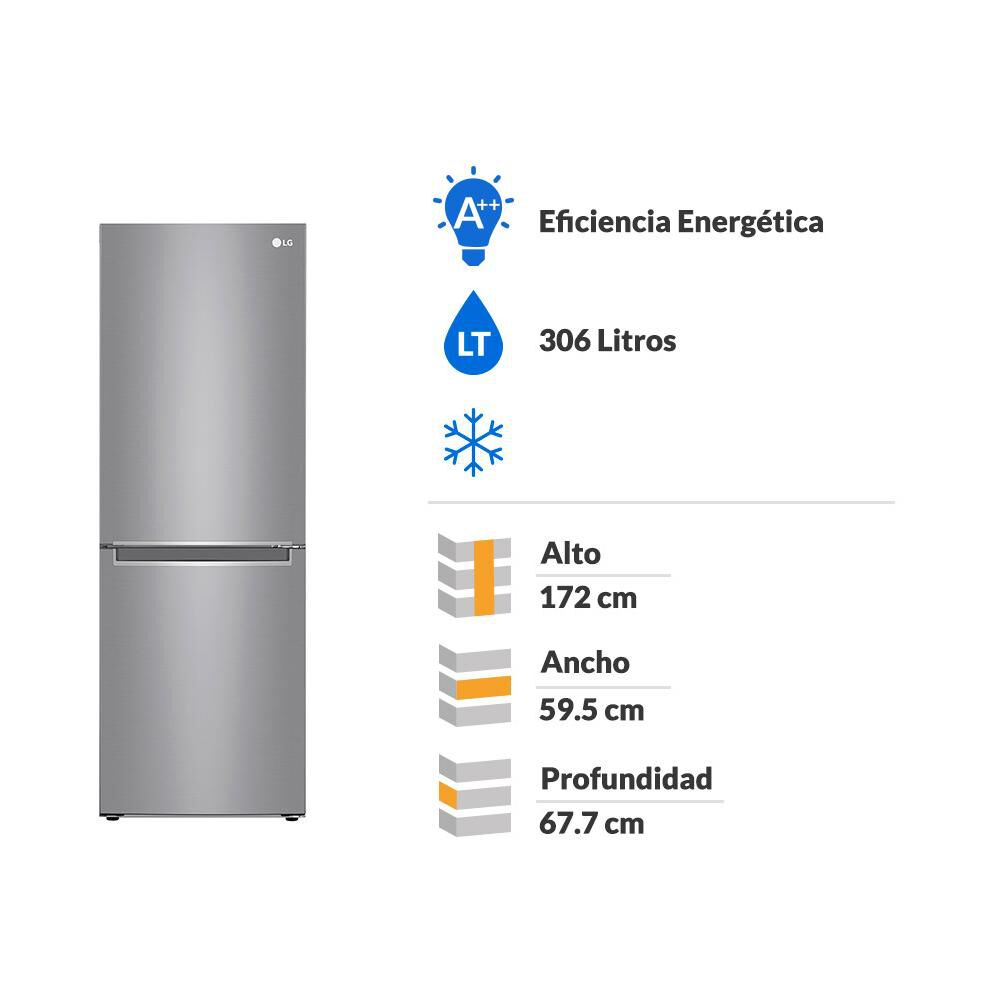 Refrigerador LG Bottom Freezer LB33MPP 306 Litros image number 1.0