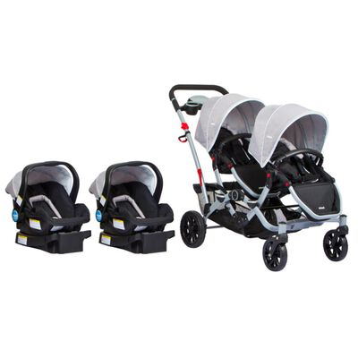 Coches Duo Ride Gery + 2 Sillas Y 2 Bases Infanti