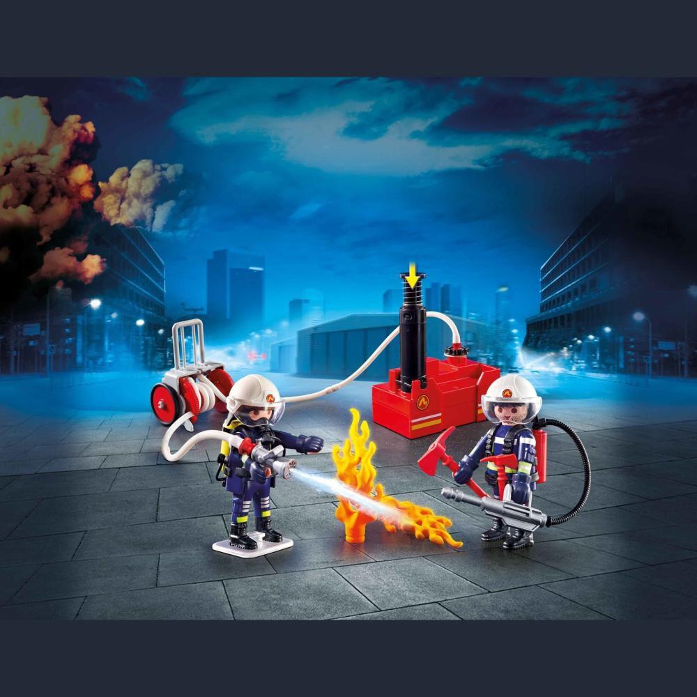 Figura De Acción Playmobil Bomberos Con Bomba De Agua image number 2.0